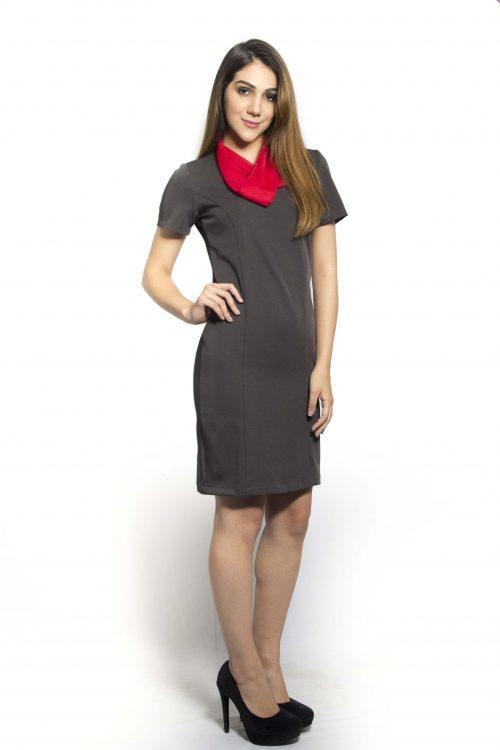 vestido social feminino